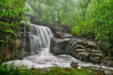 12.72 - Duluth:  Lincoln Park Waterfall In Fog