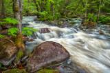 84.8 - Sawtooth Mountains:  Tait River, Spring