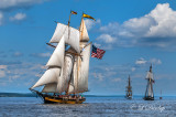 Tall Ships TS-33: Topsail Schooner Pride Of Baltimore II Leading other Tall Ships