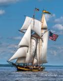 ** TS-34: Topsail Schooner Pride Of Baltimore II, Vertical, Angled