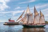 Tall Ships TS-40: Great Lakes Schooner Denis Sullivan Departing Duluth Harbor
