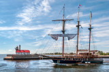 TS-41: Barquentine Peacemaker Departing Duluth Harbor