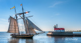 TS-42: Pride Of Baltimore II Entering Duluth Harbor