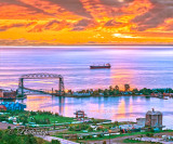 96.8 - Duluth Sunrise At Harbor