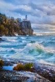 44.43 - Split Rock Lighthouse In A Stormy Autumn Gale