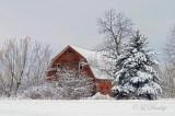 58.9 - Winter: Foxboro Barn In Snow