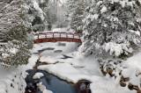 58 - Winter: Pattison Park Foot Bridge Over Black River