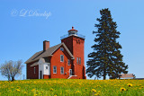 Two Harbors Lighthouse In Spring
