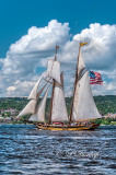 TS-32.1 - Tall Ships:  Pride Of Baltimore, Vertical, Full Clouds