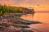 Split Rock Lighthouse At Dawn, Wide View
