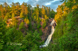 56.5 - Pattison State Park:  Big Manitou Falls And Gorge At Sunset