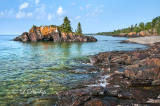 * 108.55 - Grand Portage:  Hollow Rock Seen From Northside