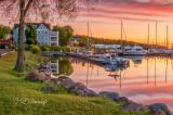 Bayfield Harbor At Dawn, Motor Boats