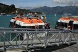 Tender boats at Akaroa Wharf