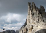 Vajolet towers- we climbed the left arete and the central one