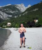 Brian at Lake Molveno