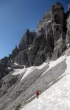 Brenta orsi trail Martina crossing snow