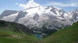 Trincee via ferrata near arraba- sheep and Marmolada