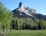 Chimney rock, Colorado rockies
