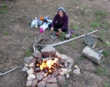 A rare camp fire on the east side of the Sangre de Cristo's