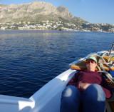 On the ferry to Telendos