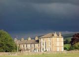 Hawes with dark skies