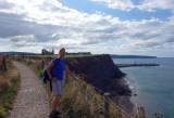Whitby coastal walk nearing Whitby abbey