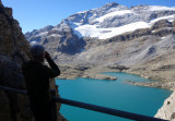 Looking to Lago de Marbore and Monte Perdido