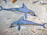 Minoan dolphin fresco Heraklion