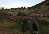 Camp above tavri at sheepfank with water cistern