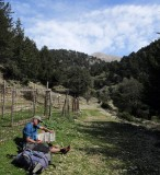 Rest at natural spring used by goat herders