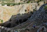 Descent into the Aradena gorge on an old kaldermia 'mule trail'
