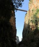 Aradena gorge- walking below the road bridge