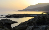 looking west along the south coast to Loutro