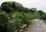 Part II Richmond castle from Swale river crossing