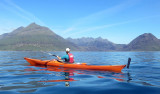 Jun 16 Kayaking to Soay island with the Skye Cuillin in the background