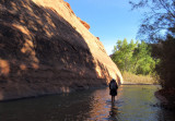 Silver Falls-Choprock Loop: On the Escalante, nearing Choprock Canyon
