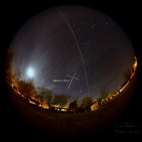 ISS Passage with Northern Cross Highlighted
