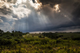 Storm Clouds with Rays