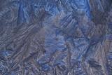 Ice on Glass with Blue Sky (Macro)
