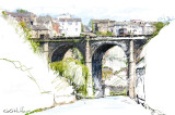 Bridge with a 2B Colored Pencil by George, March 2014 -- Membership Choice