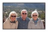 Debi, Barry & Judy at Chapel of the Holy Cross in Sedona 215