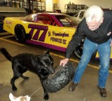 Me, Rudy and Lucky playing around at the shop.