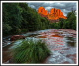 Glowing Cathedral Rock