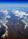 Snake River in Idaho from 39000 feet