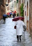 wet street in Montalcino