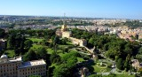 Governorate Palace, Vatican Radio, Vatican Garden from St Peter's Basalica, Rome, Italy 573