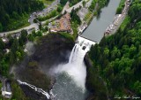 Snoqualmie Falls, Salish Lodge, PSE powerhouse, Observation Point, WA