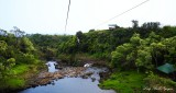 On the zipline over river