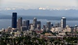 Seattle, Puget Sound, Olympic Mountains, Washington